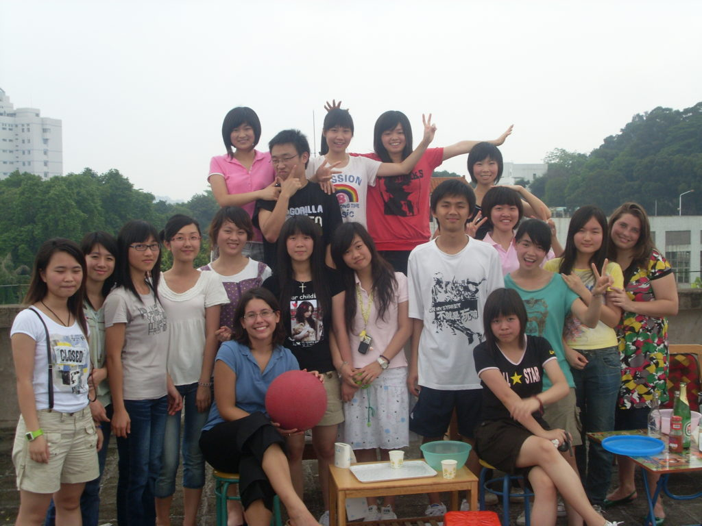 Teaching English in China Class Party