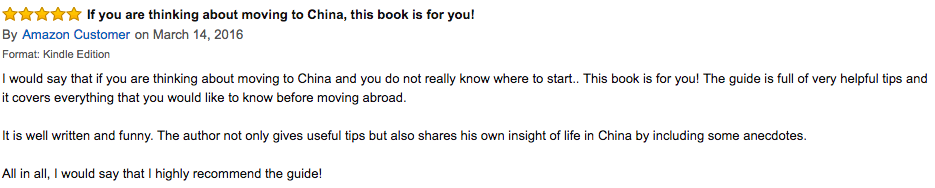 Amazon book review of ultimate china guide